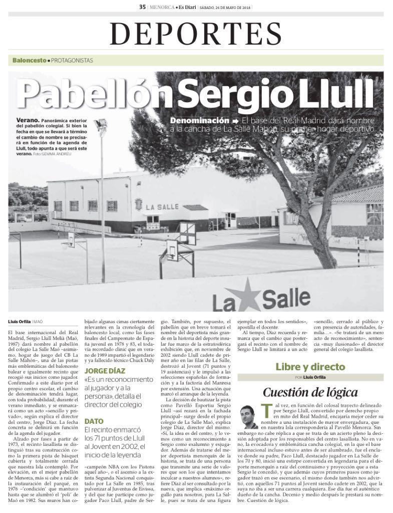 PABELLÓN SERGI LLULL (Mahón).MENORCA.