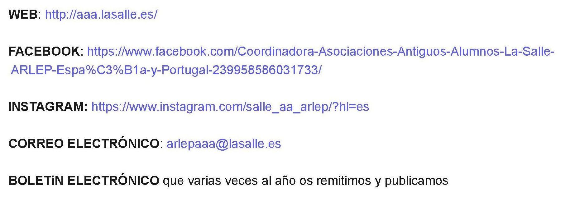 RECURSOS DE COMUNICACIÓN PARA ASOCIACIONES  AA LA SALLE ARLEP