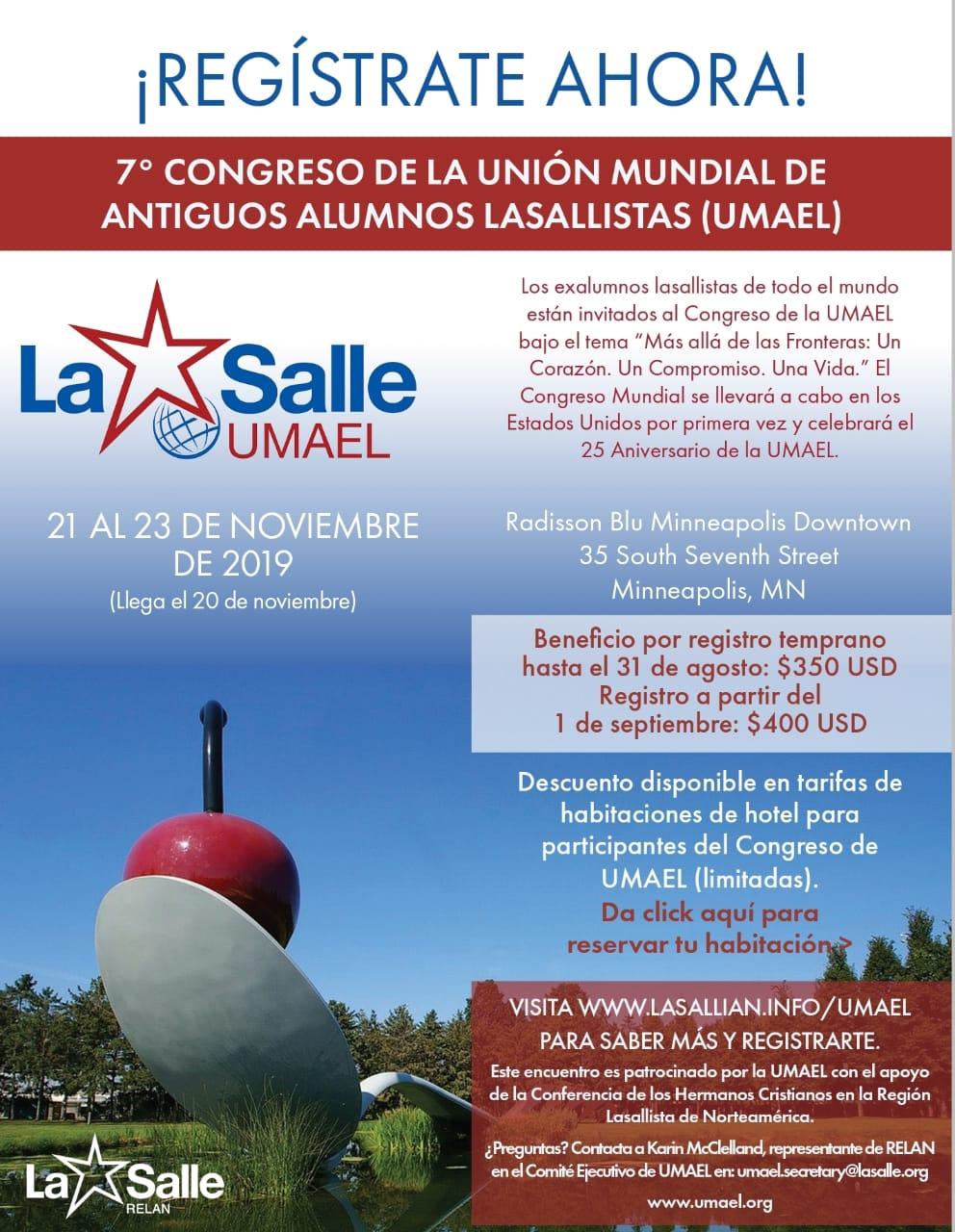 7o  CONGRESO MUNDIAL UMAEL.Unión Mundial Antiguos Alumnos La Salle.