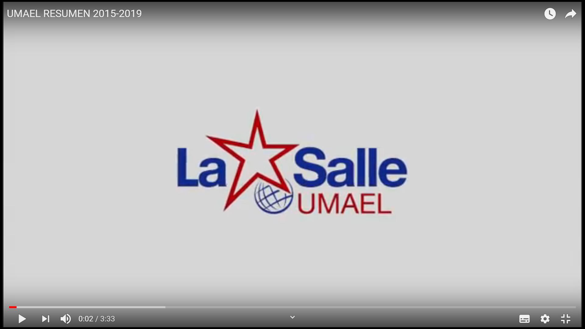 VÍDEO RESUMEN DE LA UMAEL 2015-2019