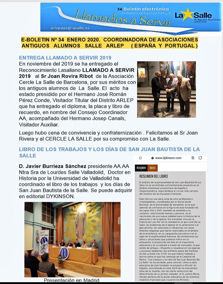 E-BOLETÍN 34 de COORDINADORA AA.AA SALLE ARLEP