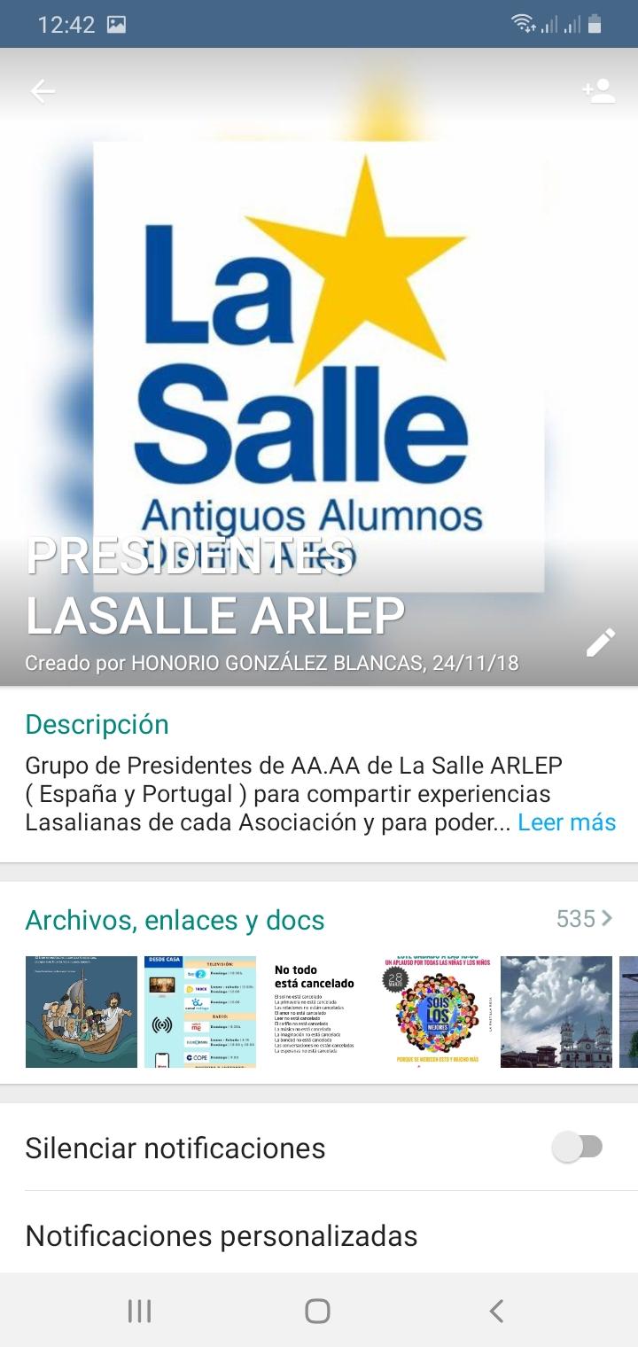 GRUPO WASAP PRESIDENTES AA.AA ARLEP