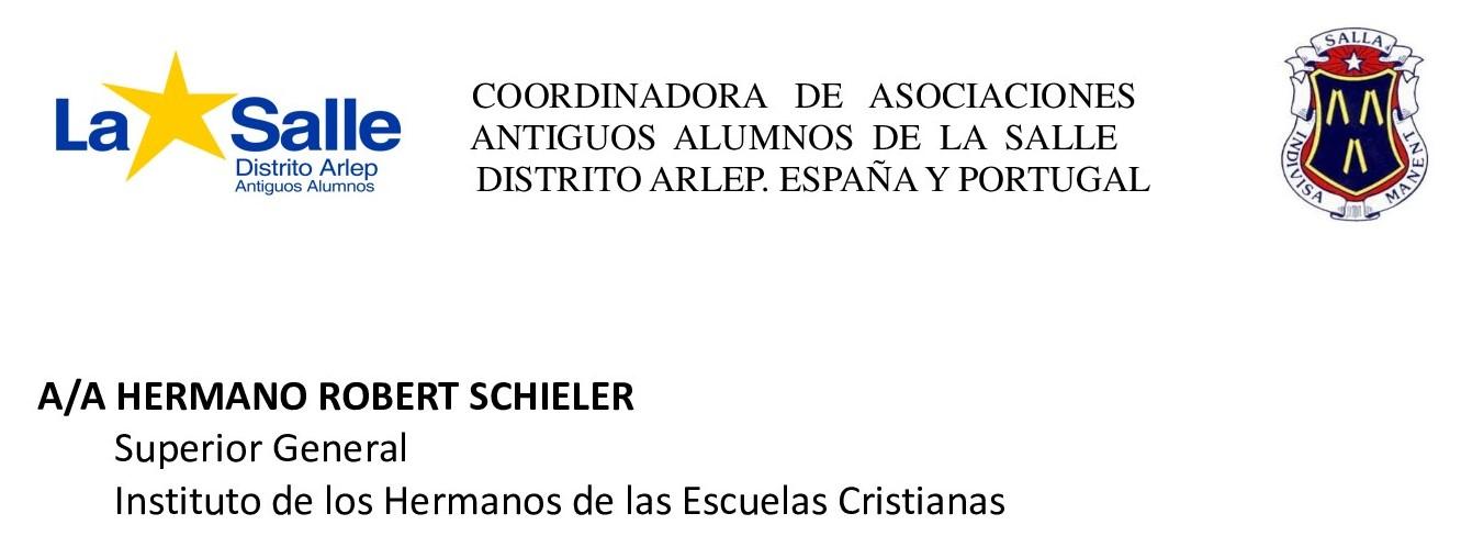 SALUDOS Y AFECTO AL HERMANO SUPERIOR ROBERT SCHIELER FSC