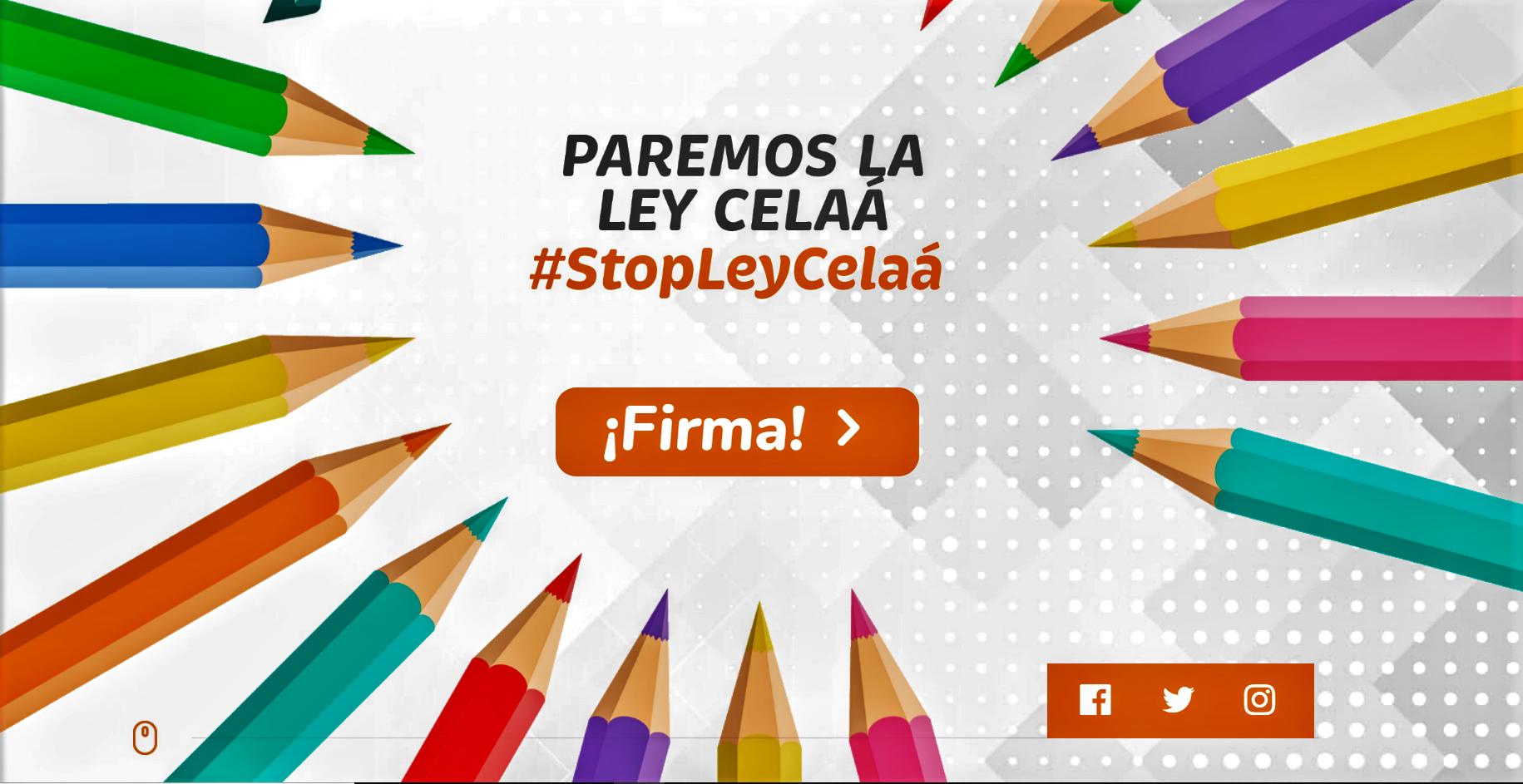 STOP LEY CELAÁ- RECOGIDA DE FIRMA. DEFENSA DE LA CONCERTADA
